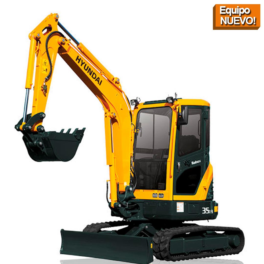 mini excavadora 35z HYUNDAI equipos de construccion Republica Dominicana