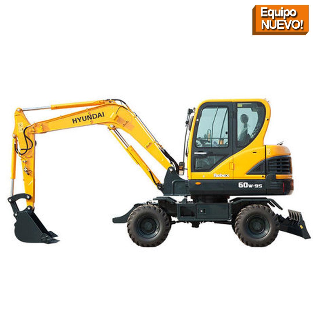 r60 excavadoras sobre ruedas HYUNDAI equipos de construccion Republica Dominicana